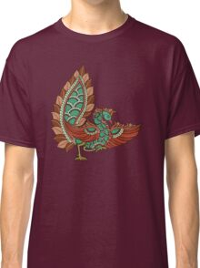 peacock modern kalamkari dusky and green Classic T-Shirt