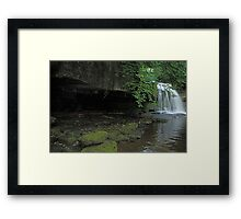 West Burton Falls and the cave Framed Print