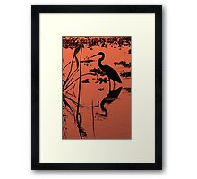 Tri Colored Sunset Framed Print