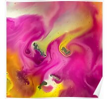 Pink watercolor abstraction painting Poster