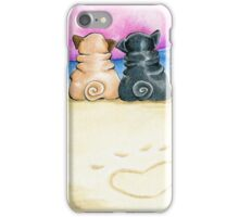 Pugs in Love Beachside iPhone Case/Skin