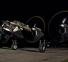 Lancaster B.VII NX611 night taxy run by Colin Smedley