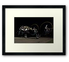 Lancaster B.VII NX611 night taxy run Framed Print