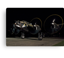 Lancaster B.VII NX611 night taxy run Canvas Print
