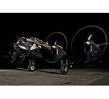 Lancaster B.VII NX611 night taxy run Photographic Print