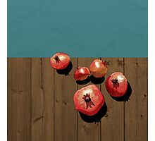 Pomegranate on the Edge Photographic Print