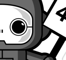 Mini Robot - Error 404 Sticker