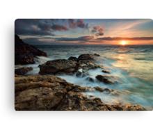 Fantail Bay Sunset Blast Canvas Print
