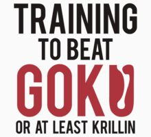 Training to bear Goku or at least Krillin  by AbandonedBerlin