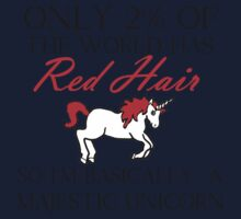 RED HAIR MAJESTIC UNICORN One Piece - Long Sleeve