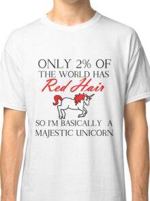 RED HAIR MAJESTIC UNICORN Classic T-Shirt