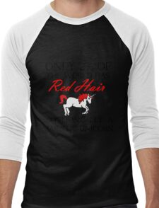 RED HAIR MAJESTIC UNICORN Men's Baseball ¾ T-Shirt