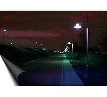 Lighted Path Photographic Print
