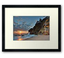 Homunga Bay, Sunrise Waterfall. Framed Print