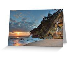 Homunga Bay, Sunrise Waterfall. Greeting Card