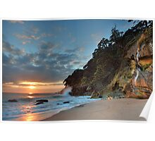 Homunga Bay, Sunrise Waterfall. Poster