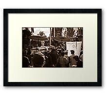 Royal Cremation - Ubud, Bali Framed Print