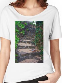 Steps to the Beach Women's Relaxed Fit T-Shirt