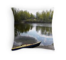 Kayak ready for the launch Throw Pillow