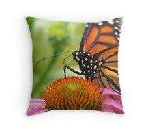 Portraite of A Monarch Throw Pillow
