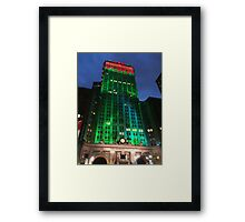 Holiday Colors, Helmsley Building, New York City Framed Print