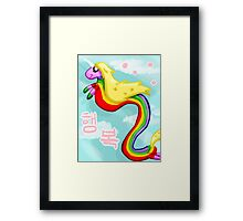 Rainicorns and Happiness Framed Print