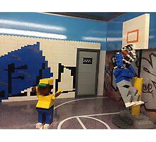 Lego Basketball Court, Lego Rockefeller Center Store, Rockefeller Center, New York City Photographic Print