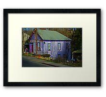 Retro Gingerbread House Framed Print