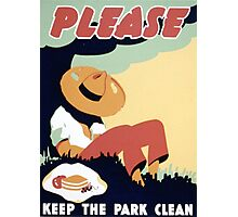 Please Keep the Park Clean Photographic Print