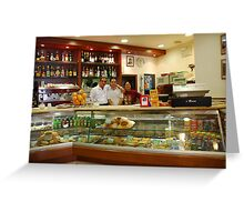 Florence Italy Bar Pizzeria Greeting Card