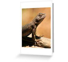 Western Fence Lizard Greeting Card