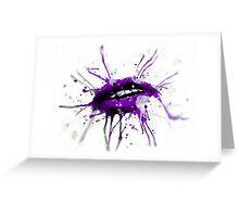 First Kiss Grape Greeting Card