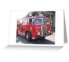 1956 Dennis Fire Appliance Greeting Card