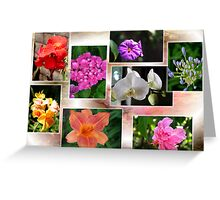 Collage of Flowers Greeting Card
