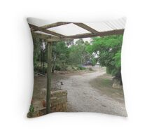 'Looking Out from our Front Door!' Mt. Pleasant. Sth. Aust. Throw Pillow