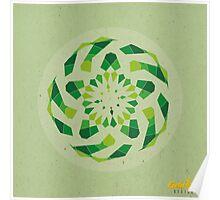 Green Geometric Mandala Poster