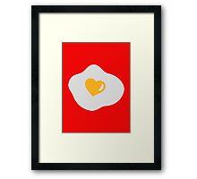 Fried egg heart Framed Print