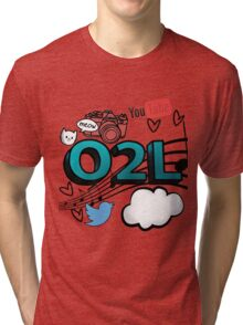 O2L FOREVER GRAPHIC  Tri-blend T-Shirt