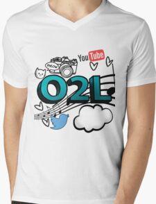 O2L FOREVER GRAPHIC  Mens V-Neck T-Shirt