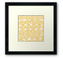 All-over Petals in Yellow Framed Print