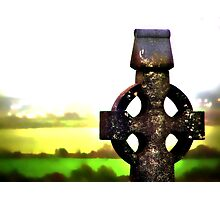 Celtic Cross Photographic Print