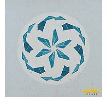 Blue Geometric Mandala Photographic Print