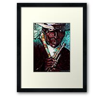 The Man,The Horn,The Legend Framed Print