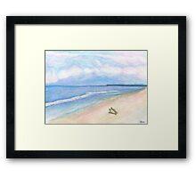 Sunday Morning on Flagler Beach Framed Print