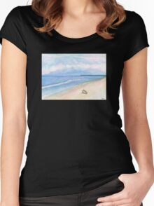 Sunday Morning on Flagler Beach Women's Fitted Scoop T-Shirt