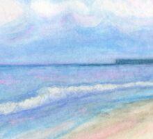 Sunday Morning on Flagler Beach Sticker