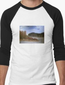 Beautiful Landscape Tranquil Countryside Men's Baseball ¾ T-Shirt