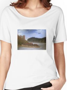 Beautiful Landscape Tranquil Countryside Women's Relaxed Fit T-Shirt