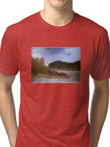 Beautiful Landscape Tranquil Countryside Tri-blend T-Shirt