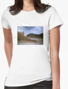 Beautiful Landscape Tranquil Countryside Womens Fitted T-Shirt